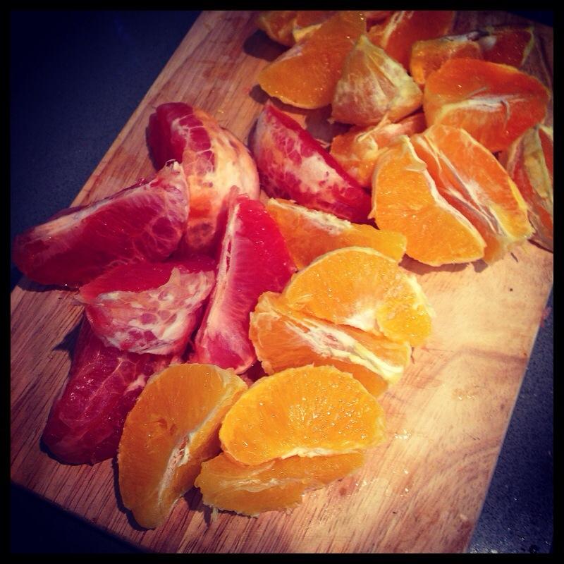 Grapefrukt och apelsiner
