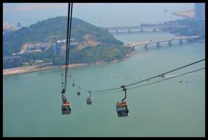 Lantau Island, linbanan upp till Big Buddha